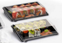 Packaging fol rolls and sushi